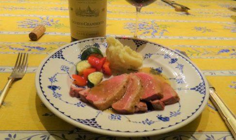 鴨肉と赤ワインのマリアージュ