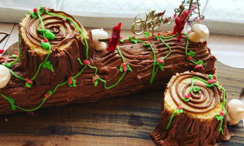 ブッシュドノエル-クリスマスケーキ