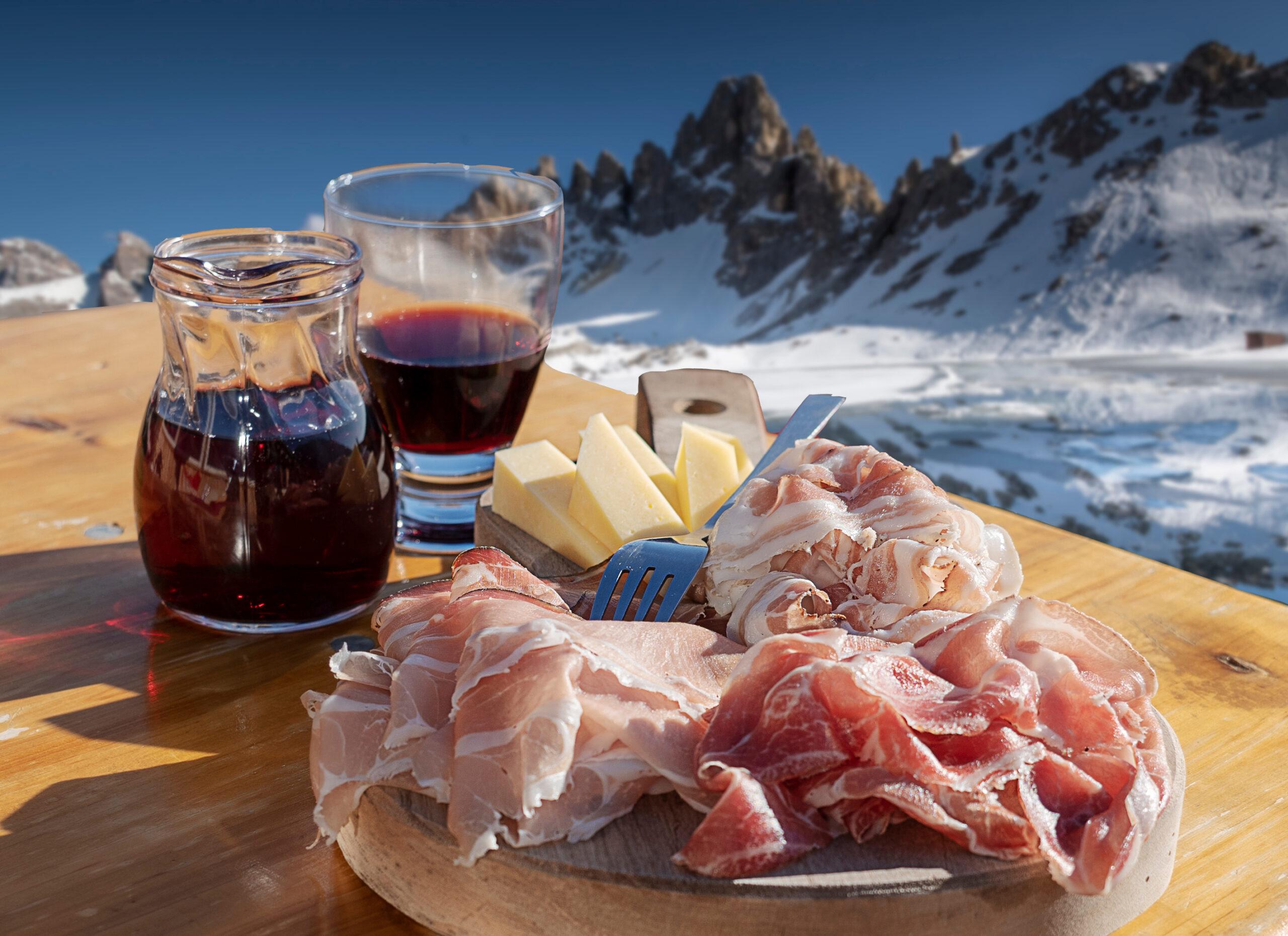 スキー場でワイン